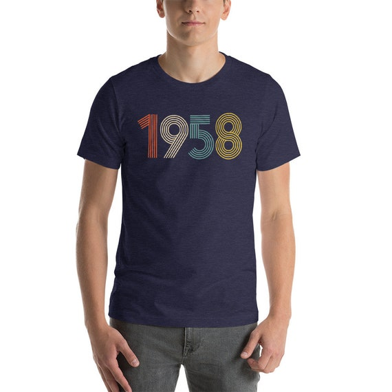 60th Birthday 1958 T Shirt Gift 60