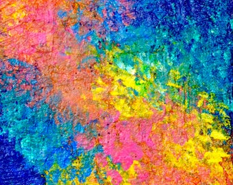 Accepting All Who I Am-Colorful Abstract Painting