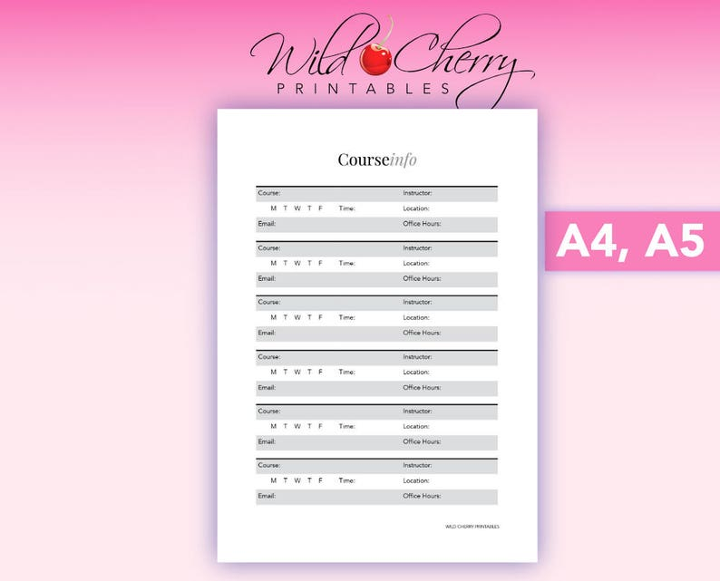image regarding Class Schedule Printable called A4 Cl Timetable Printable, School College student Planner Printable, Scholar Planner, Instructional Planner University Routine, Superior college or university Plan, A4