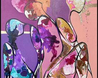 Original Mixed Media Painting: 'Life Cycles'