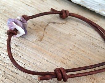 Purple Sea Shell Bracelet