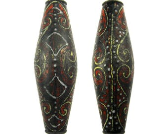 """Holly Cooper Lampwork Beads """"Papua"""""""