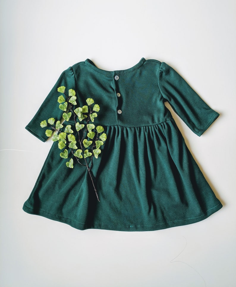 3ad9f65e0 Forest Green Dress Christmas Dress Toddler Winter Dress