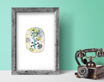 Printable Abstract Watercolor Painting