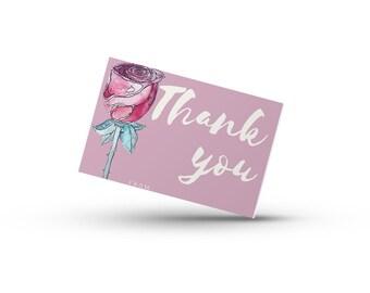 Rose Thank you Card- Print