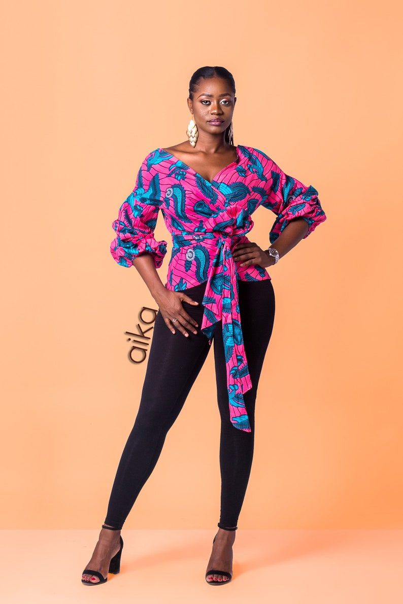 8f2ee0ede7eaa African print wrap top African Print top African clothing