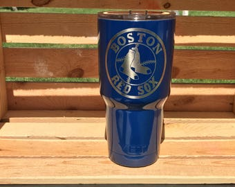 Authentic 20 oz, or 30 oz Yeti rambler Tumbler | Boston Red Sox | Powder coated Yeti | stainless steel | Sports Yeti | FREE SHIP