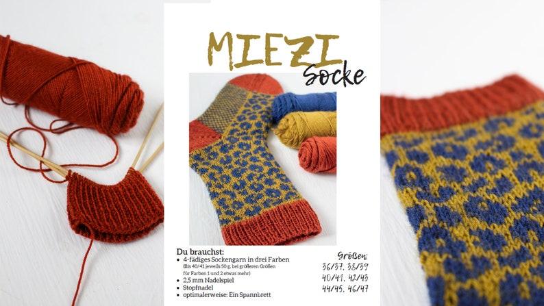 MIEZI Socke  deutschsprachige Strickanleitung / Anleitung / image 0