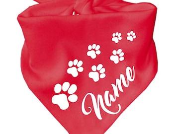 Dreieckstuch Hundehalstuch mit Namen oder Wunschtext
