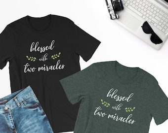 Pregnancy announcement shirt, Pregnancy reveal shirt, Mom of twins, Mother of twins, Mom of two kids, Mother of two boys, Blessed momma