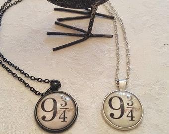 Harry Potter Necklace, Platform 9 3/4, Cameo Pendant Necklace, Harry Potter Hogwarts Express