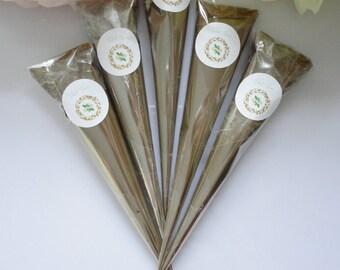 Henna cones, (1-4) Henna Cones Natural, Henna Cones,ready to use henna hones, fresh henna cones, Organic Mehndi, temporary tattoo