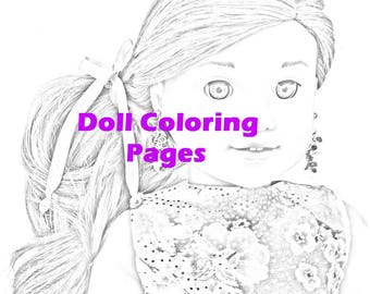 Draw Samples: American Girl Doll Tenney Coloring Pages