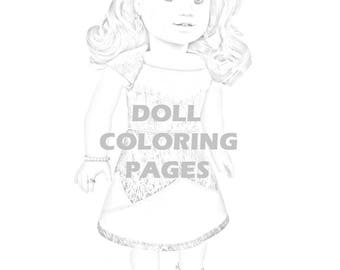 Julie Albright Doll Coloring Pages American Girl Doll | Etsy