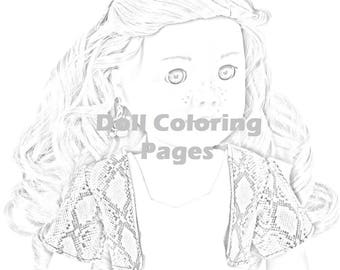 american girl doll tenney coloring pages | American Girl Doll Coloring Pages Tenney Grant Adult | Etsy