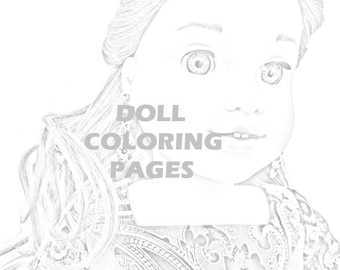 american girl doll tenney coloring pages | Lea Clark American Girl Doll Coloring Pages Adult Coloring | Etsy