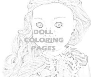 American Girl Doll Coloring Pages Tenney Grant Adult | Etsy