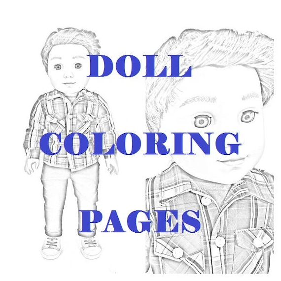 - American Girl Doll Coloring Pages Logan Everett Four Instant Etsy