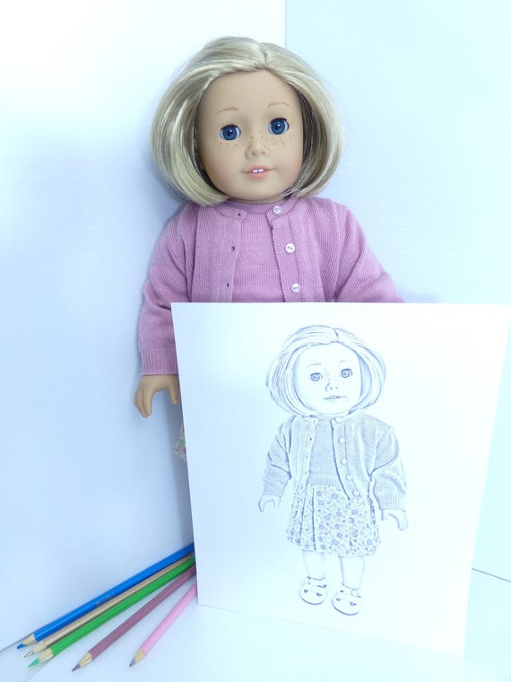 Kit Kittredge Coloring Pages - Kids Coloring - Adult Coloring - American Girl Doll Coloring - 3 jpeg Digital Downloads to Print and Color!