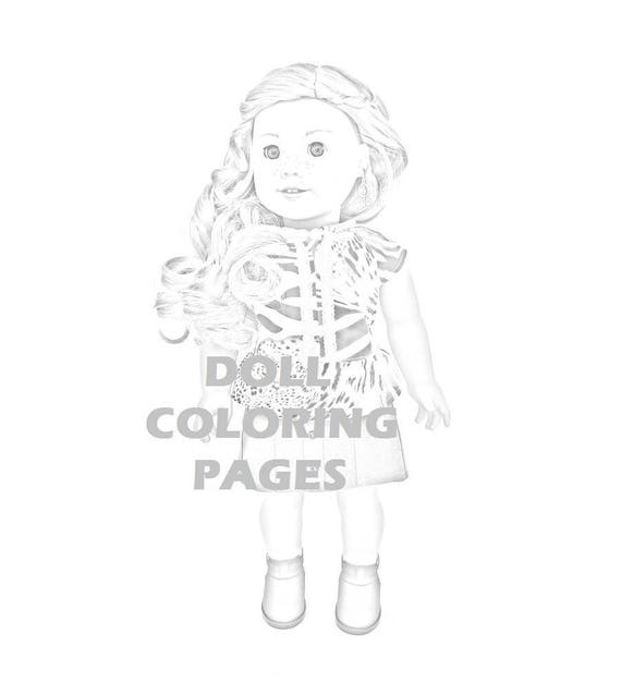 american girl doll tenney coloring pages | Tenney Grant American Girl Doll Coloring Pages Adult | Etsy