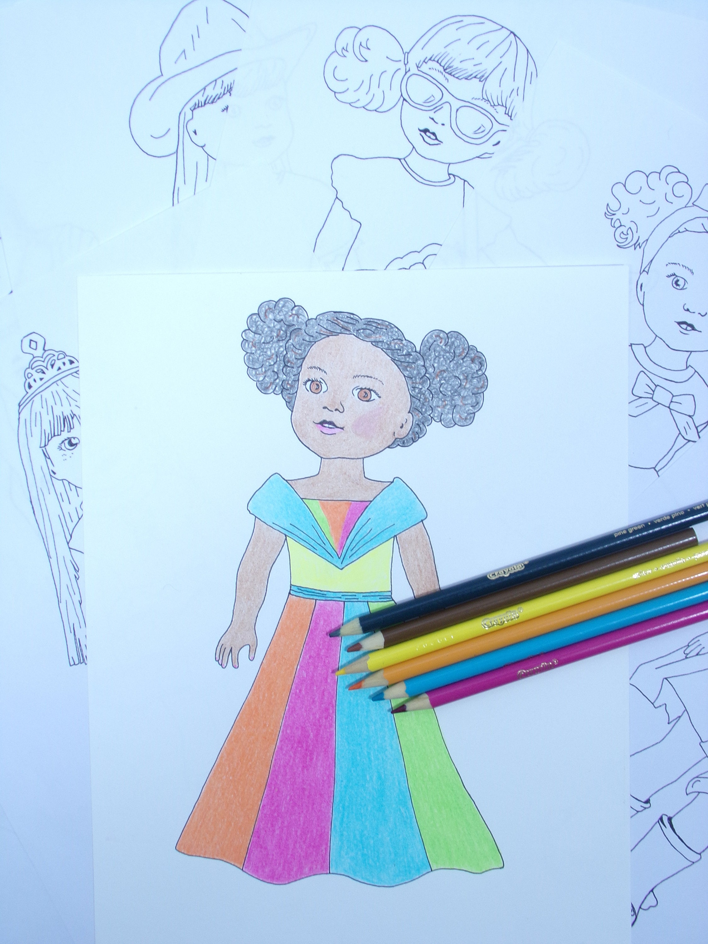 Wellie Wishers Doll Coloring Pages Five Instant Coloring | Etsy
