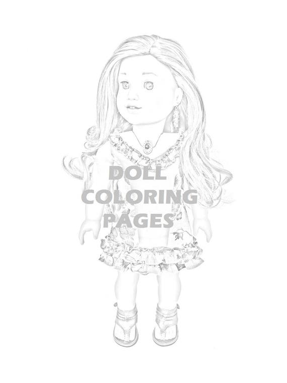 Lea Clark American Girl Doll Coloring Pages Four Coloring