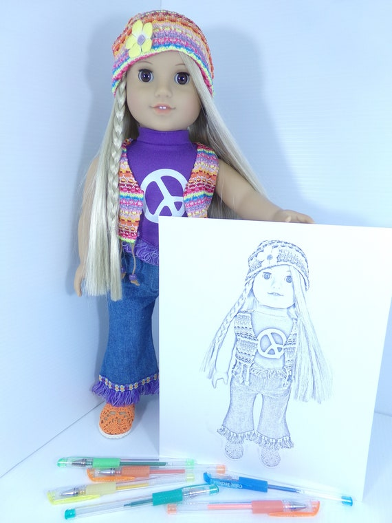 - Julie Albright Doll Coloring Pages American Girl Doll Etsy