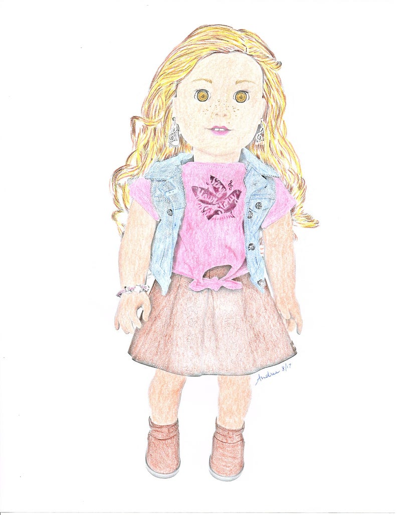 American Girl Doll Coloring Pages Tenney Grant Doll   Etsy