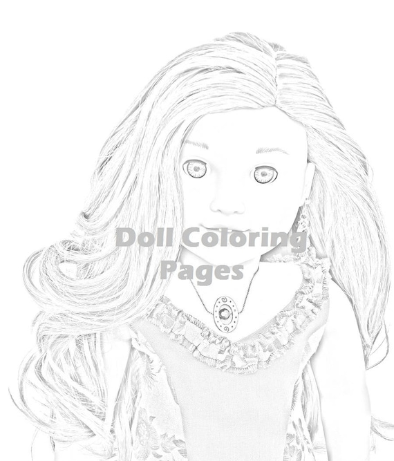 Lea Clark American Girl Doll Coloring Pages - Adult Coloring - AG Doll  Photography - Grayscale Art - 4 jpeg Digital Instant Downloads