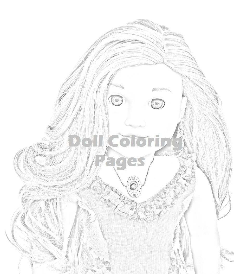 Lea Clark American Girl Doll Coloring Pages Adult Coloring