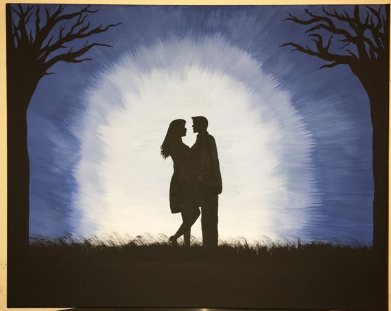 man and woman silhouette etsy man and woman silhouette