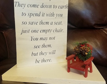 photo relating to Missing Man Table Poem Printable referred to as Vacant chair poem Etsy