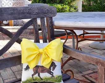 f31dd175d290 Horse Lover Gift Large Bow Pillow Stuffed Cushion Cuddle Pillow Toss  Cushion Throw Pillow Animal Decor Baby Nursery Decor Pillow Gift Girl