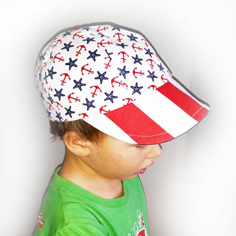 e2cbd0529b4 Children cotton hat Baby boy hat Nautical infant boy girl hat