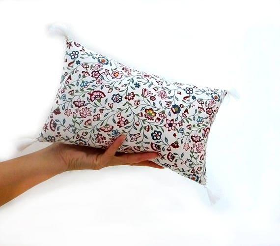Decorative pillow with name Pink pillow cover Moon cushion fringe Fabric throw pillow set Cloud pillow Nursery gift girl  Kids pillow decor