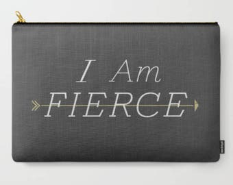Fierce, Black, Makeup Bag, Cosmetic Bag, Makeup Pouch, Makeup Brush Bag, Toiletry bag, Makeup Case, Cosmetic Case