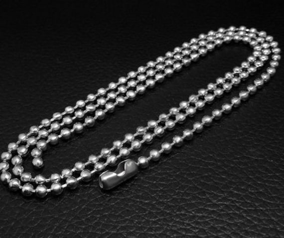 24 Inch Black Stainless Steel Ball Chain 2.4 mm Military Spec for Army Dog Tag
