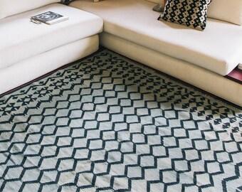 Blauw Perzisch Tapijt : ≥ handgeknoopt blauw perzisch tapijt oosters vintage kleed