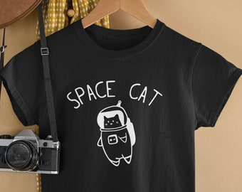 Space Cat TShirt / Space Lovers, Cats In Space, Astronomy Lovers, Outer Space, Rocket, Quirky Shirt