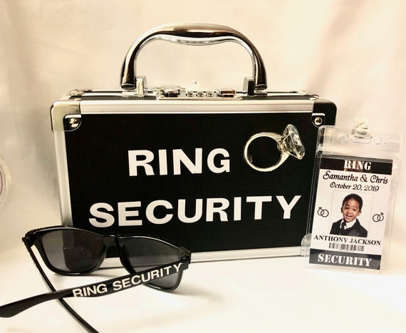 RING SECURITY Briefcase Only Ring Bearer Case Limited time FREE Personalization! sunglasses extra charge