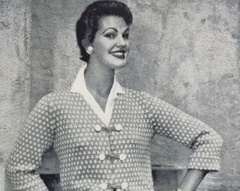1950s Patons Knitting Pattern Book No.434 - 8 Lovely Patterns For Ladies - Free Postage In Australia