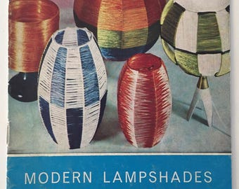 1960's Modern Lampshades Pattern Booklet - Great Patterns For Retro Raffia Lampshades - Free Postage In Australia