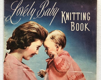 Vintage Lovely Baby Knitting Pattern Book By Wife and Home - October 1957 - 10 Beautiful Patterns For Babies - Free Postage In Australia