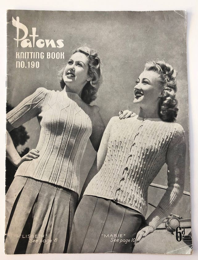 Vintage 1940s Patons Knitting Pattern Book No190 8 Etsy