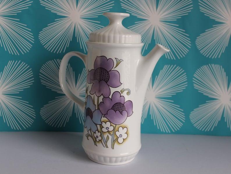 Alfred Meakin Pottery Alfred Meakin Glo White Ironstone Flowers Lidded Casserole Serving Dish Retro #2