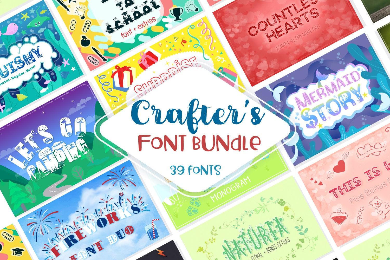 Sale! Crafter's Huge Font Bundle | 39 Fonts in 26 Families | Beach Font,  Summer Font, Fireworks Font, Camping Font, Sports Font, Love Font