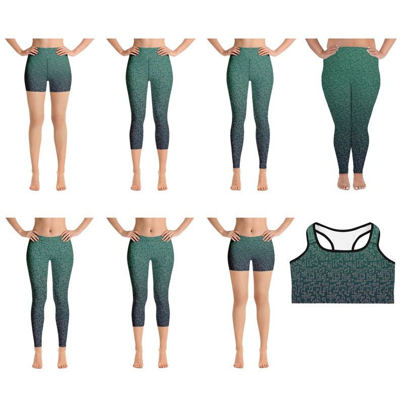 7c668a2d1a XS-6XL Active Wear, Women Sport Clothing, Printed Leggings, Plus size  Shorts, Yoga Workout Clothes, Fitness gift, Sportswear Clothing Set