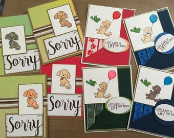 """Boxed 8 Notecard Set Dogs """"Bella and Friends"""" #1"""