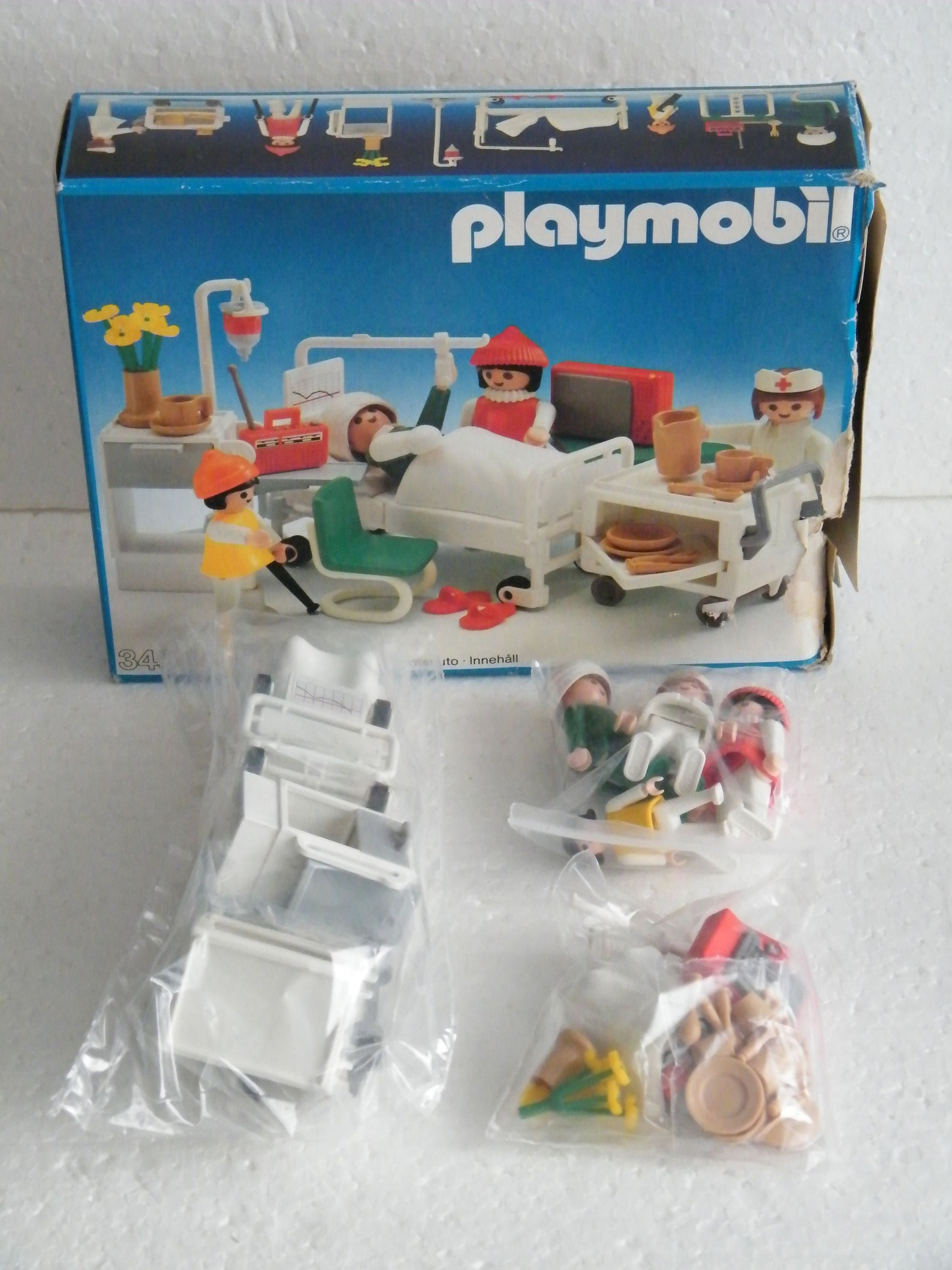 3495 Playmobil Hospital room in original box Toys Set Vintage