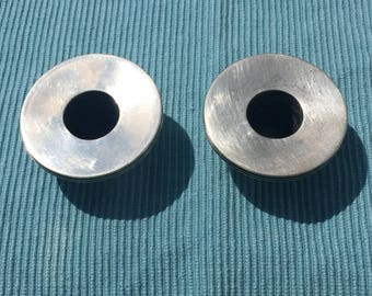 Sterling? Silver plate? Candlestick liners/holders